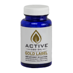 Active CBD oil capsules