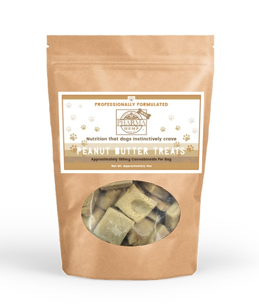 CBD Oil Peanut Butter Dog Treats (4oz/100mg)