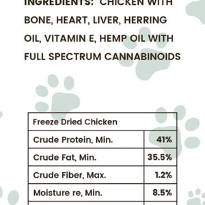 CBD Oil Freeze-Dried Chicken Pet Treats